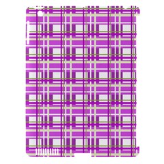 Purple plaid pattern Apple iPad 3/4 Hardshell Case (Compatible with Smart Cover)