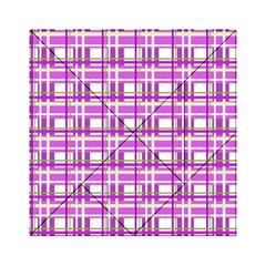 Purple plaid pattern Acrylic Tangram Puzzle (6  x 6 )