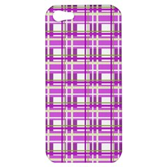 Purple plaid pattern Apple iPhone 5 Hardshell Case