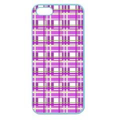Purple plaid pattern Apple Seamless iPhone 5 Case (Color)