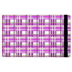 Purple plaid pattern Apple iPad 3/4 Flip Case