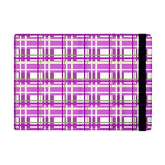 Purple plaid pattern Apple iPad Mini Flip Case