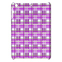 Purple plaid pattern Apple iPad Mini Hardshell Case