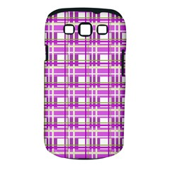 Purple plaid pattern Samsung Galaxy S III Classic Hardshell Case (PC+Silicone)