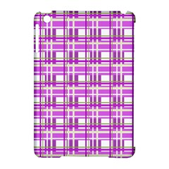 Purple plaid pattern Apple iPad Mini Hardshell Case (Compatible with Smart Cover)