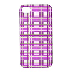 Purple plaid pattern Apple iPhone 4/4S Hardshell Case with Stand