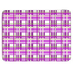 Purple plaid pattern Samsung Galaxy Tab 7  P1000 Flip Case