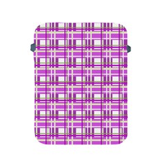Purple plaid pattern Apple iPad 2/3/4 Protective Soft Cases