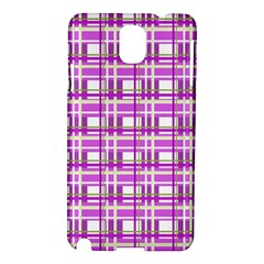 Purple plaid pattern Samsung Galaxy Note 3 N9005 Hardshell Case