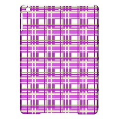 Purple plaid pattern iPad Air Hardshell Cases