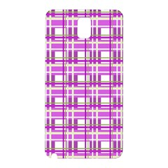 Purple plaid pattern Samsung Galaxy Note 3 N9005 Hardshell Back Case