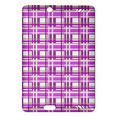 Purple plaid pattern Amazon Kindle Fire HD (2013) Hardshell Case