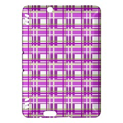 Purple plaid pattern Kindle Fire HDX Hardshell Case