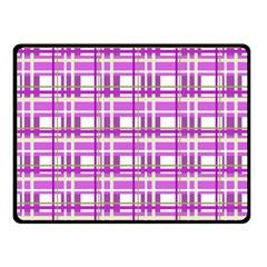 Purple plaid pattern Double Sided Fleece Blanket (Small)