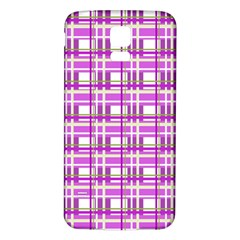Purple plaid pattern Samsung Galaxy S5 Back Case (White)