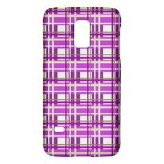 Purple plaid pattern Galaxy S5 Mini