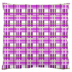 Purple plaid pattern Standard Flano Cushion Case (Two Sides)