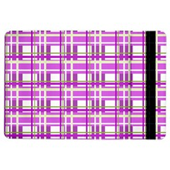 Purple plaid pattern iPad Air 2 Flip