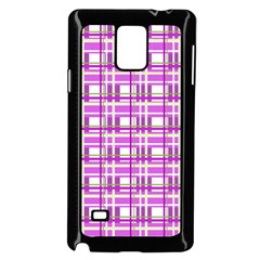 Purple plaid pattern Samsung Galaxy Note 4 Case (Black)