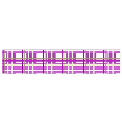 Purple plaid pattern Flano Scarf (Small)
