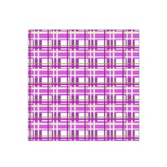 Purple plaid pattern Satin Bandana Scarf