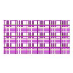 Purple plaid pattern Satin Shawl