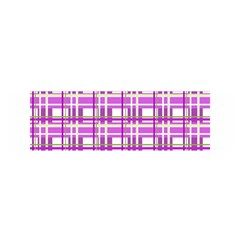 Purple plaid pattern Satin Scarf (Oblong)