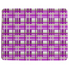 Purple plaid pattern Jigsaw Puzzle Photo Stand (Rectangular)