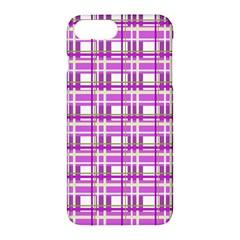 Purple plaid pattern Apple iPhone 7 Plus Hardshell Case
