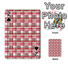 Red plaid pattern Playing Cards 54 Designs