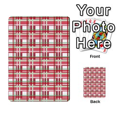 Red plaid pattern Multi-purpose Cards (Rectangle)