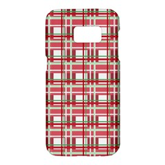 Red Plaid Pattern Samsung Galaxy S7 Hardshell Case