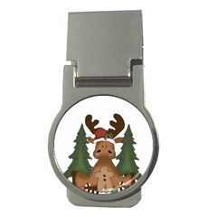 Christmas Moose Money Clips (round)
