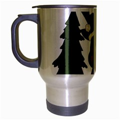 Christmas Moose Travel Mug (silver Gray)