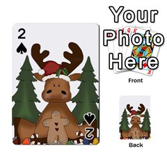 Christmas Moose Playing Cards 54 Designs