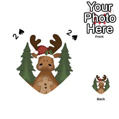 Christmas Moose Playing Cards 54 (heart)