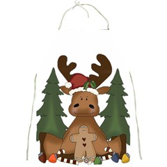 Christmas Moose Full Print Aprons