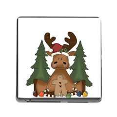 Christmas Moose Memory Card Reader (square)