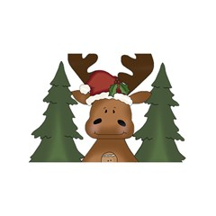 Christmas Moose YOU ARE INVITED 3D Greeting Card (8x4)