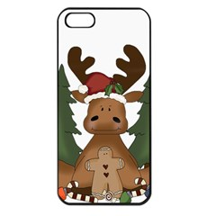 Christmas Moose Apple Iphone 5 Seamless Case (black)
