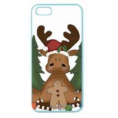 Christmas Moose Apple Seamless Iphone 5 Case (color)