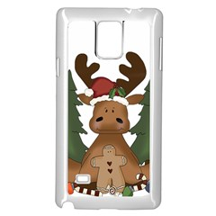 Christmas Moose Samsung Galaxy Note 4 Case (white)