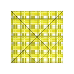 Yellow Plaid Pattern Acrylic Tangram Puzzle (4  X 4 )