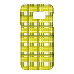 Yellow plaid pattern Samsung Galaxy S7 Hardshell Case