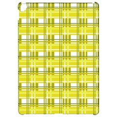 Yellow plaid pattern Apple iPad Pro 12.9   Hardshell Case