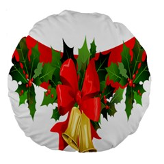 Christmas Clip Art Banners Clipart Best Large 18  Premium Round Cushions