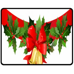 Christmas Clip Art Banners Clipart Best Double Sided Fleece Blanket (medium)