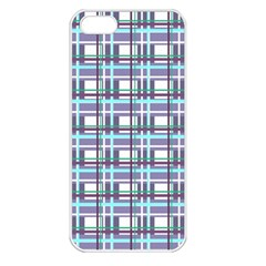 Decorative Plaid Pattern Apple Iphone 5 Seamless Case (white)