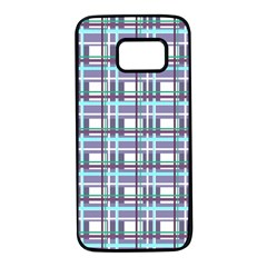 Decorative plaid pattern Samsung Galaxy S7 Black Seamless Case