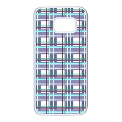 Decorative plaid pattern Samsung Galaxy S7 White Seamless Case